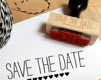 Save The Date Stamp with Hearts, Save The Date Stamp, Modern Save The Date, Save The Date Stamp With Hearts, DIY Wedding, DIY Save the Date