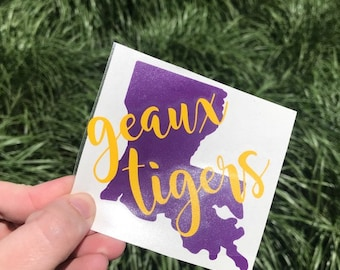 Geaux Tigers Decal - Louisiana State University - College Decal