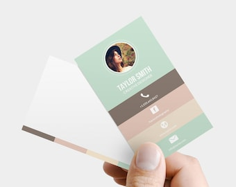 Business Card Template - Printable business card design, business card template, custom business card, photoshop, psd business card design
