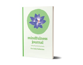 Mindfulness Journal, Blue Green Lotus Edition, Meditation, 47A1979476810