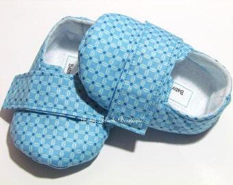 Blue Baby Boy Soft Soled Shoes - Infant Loafer Boy Shoes