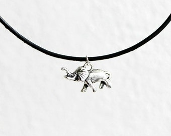 Elephant necklace, choker