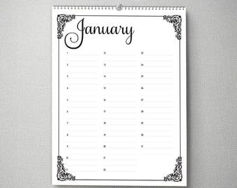 Perpetual Birthday Calendar, 11x14, Calendar, cal0050