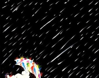 The Color of Cosmic Rain **PRINT**