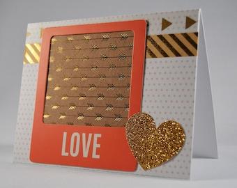 Gold Love Arrow Card