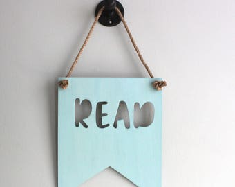 Read Sign, Read Letters, Reading Nook, Playroom Decor, Playroom Wall Decor, Kids Playroom Decor, Nursery Wall Decor, Wooden Signs, Nursery