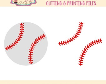Baseball SVG - Baseball Strings SVG - Baseball Clip Art - Noun svg - Icon svg - Baseball Mom Files for Silhouette Studio/Cricut Design Space