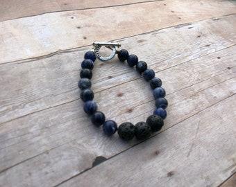 Sodalite Essential Oil Diffuser Bracelet Lava Bead Gemstone Bracelet Doterra Bracelet Diffuser Bracelet Aromatherapy bracelet