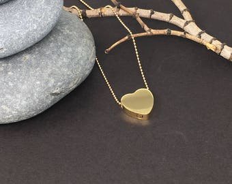 Cremation Urn Pendant - Heart Necklace, Gold Necklace, Cremation Jewelry, Ash Holder / free shipping