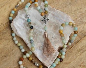 Grade A Amazonite Mala Necklace