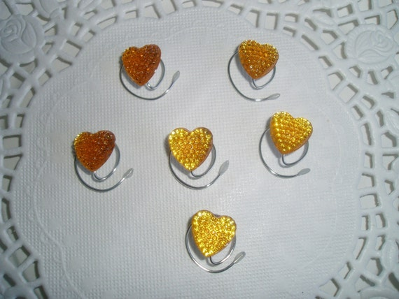 Valentine Hair Swirls-Bright Golden Hearts-Prom-Bridesmaids-Flower Girl