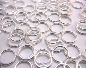 Silver Jump Rings 12mm Diameter (Quantity 100) RING015