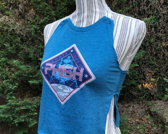 PHISH upcycled top
