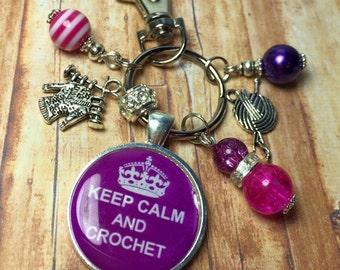 Crochet keyring, crochet keychain, crochet lover gift, crochet gift, crochet lover gift