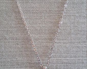 Swarovski Topaz Baroque Crystal Necklace with Silver Plated Chain