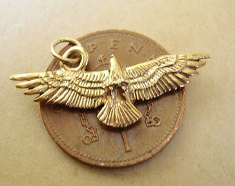 9ct Gold Eagle charm  charms