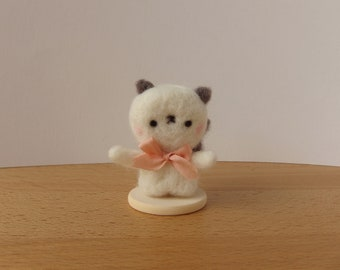 Louise is Siamese -- Cat of Needle Felted Wool