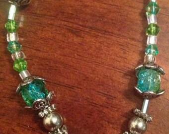Aqua and Peridot Love Bracelet