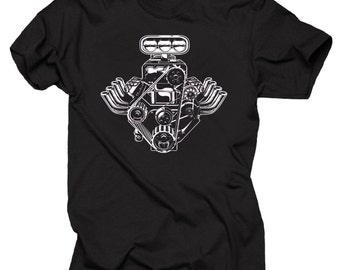 Motor Car Engine Muscle Car T-Shirt Tee Shirt
