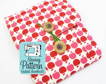 Idea Pouch PDF Sewing Pattern | Sew a large two pocket pouch using this intermediate level sewing project tutorial.