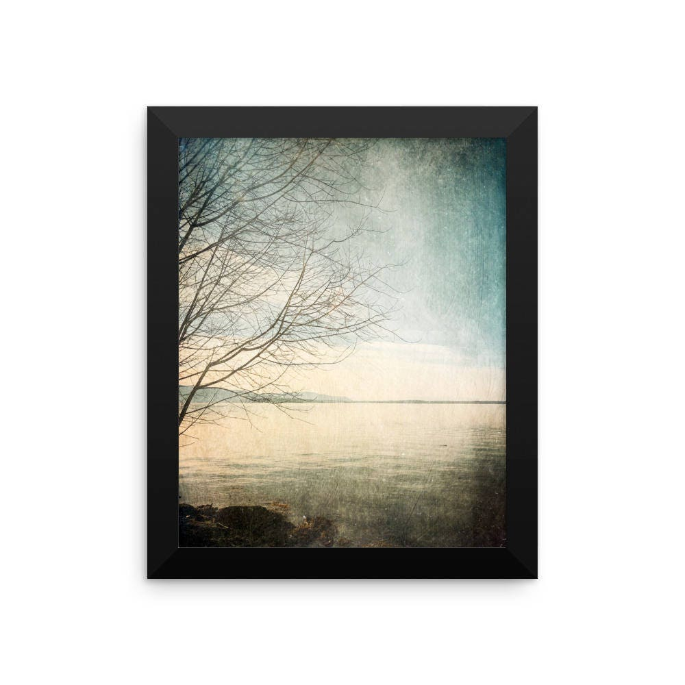 Vintage Style Pacific Northwest Framed Nature Photograph