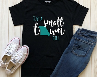 Just a Small Town Girl State Tee
