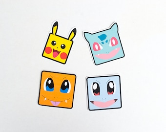 1st Gen Starter Pokemon Squirtle Bulbasaur Pikachu Charmander Kawaii Cute Cartoon Character Tv Show Anime Japanese Pocket Monsters Fighting
