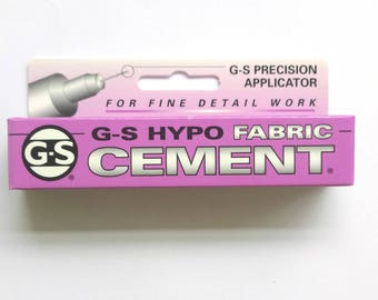 GS Hypo Fabric Adhesive Glue 1/3-Ounce Tube Jewellery Craft Glue