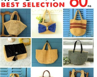 Best Selection Hemp Rope Crochet Bags 60 - japanese craft book