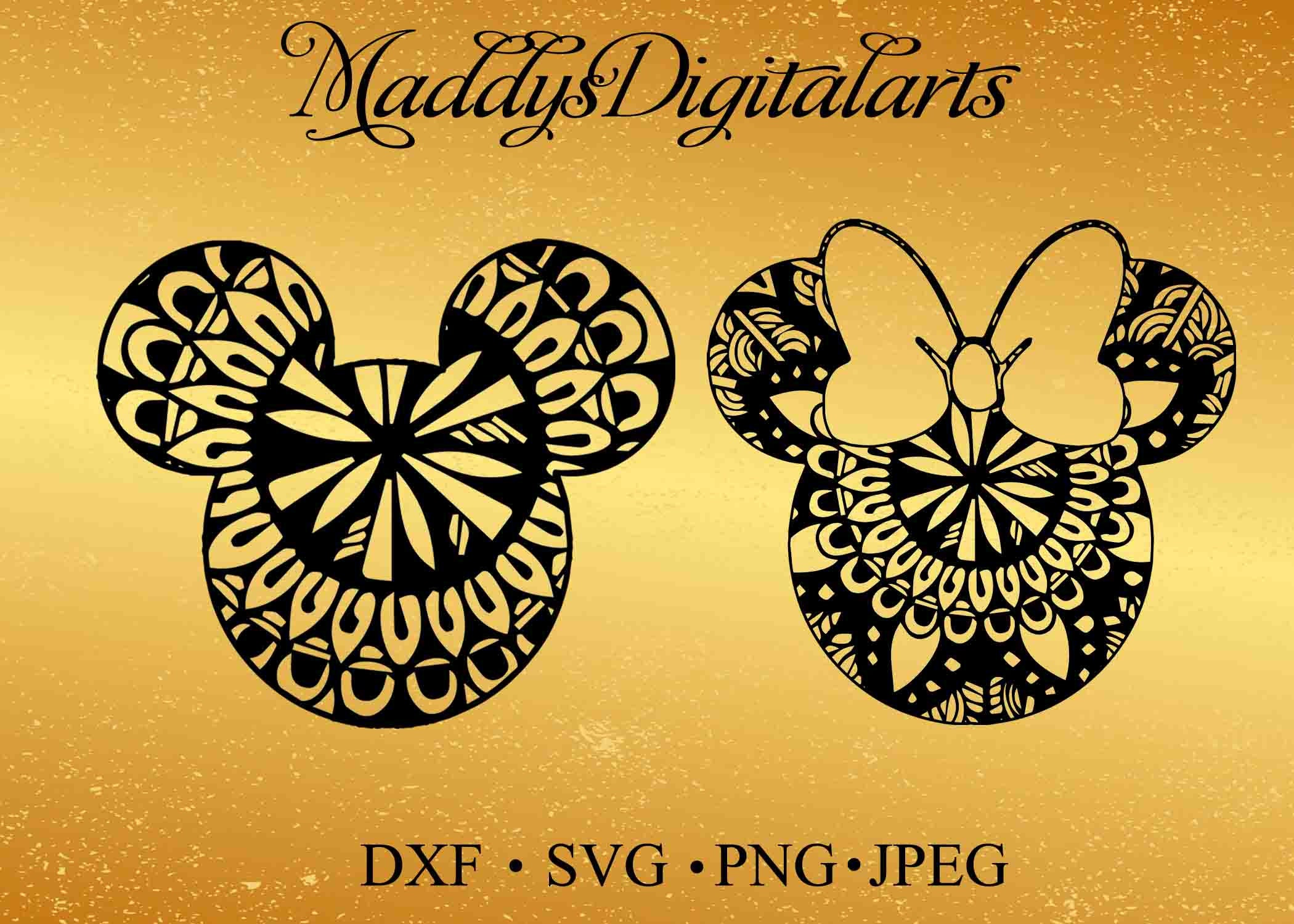 Mickey Mandala Mouse Svg File Minnie Mandala Svg Vinyl