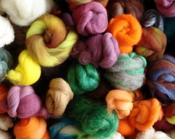 3 oz Mystery Bag of Rovings, Tops, and Batts in different Fibers