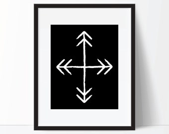 Boho Art, Arrow Print, Arrow Art, Tribal Arrows, Tribal Print, Boho Print, Tribal Art, Arrow Printable, Boho Printable, Boho Digital Print