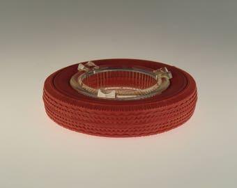 Bohemian Czech Czechoslovakian Advertising Rubber-Glass Barum Tyre Ashtray