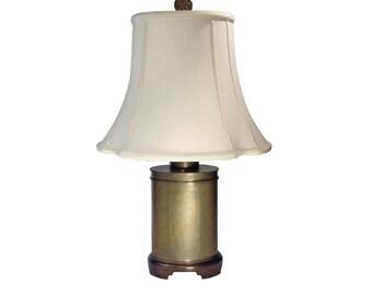 Vintage Wildwood Brass Table Lamp, Tea Caddy Lamp
