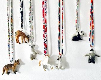 Ceramic panda necklace