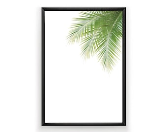 Palm Leaves Print, Tropical Leaves Print, Printable Palm Leaves, Palm Art Print, Palm Tree Art, Beach Decor, Minimalist Art, Wall Art Print