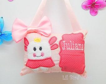 Tooth Fairy Pillow - Name Embroidered - Girls Tooth Fairy Pillow