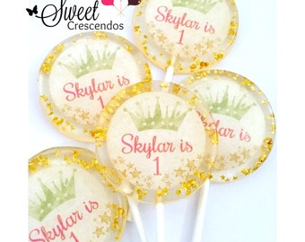 Princess Crown Lollipops- Birthday- Baby Shower- Bridal Shower- Quinceañera-Sweet Sixteen