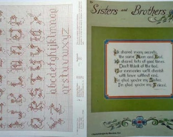 Cross Stitch Leaflet Sisters and Brothers