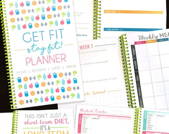 8 Week Diet Fitness Planner, Nutrition Weight Loss Notebook - Diet Diary, Weight Loss Tracker, COLORFUL IIFYM, Fitness Motivation Journal