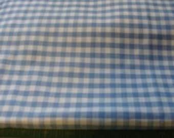 Blue and white Checker Cotton Fabric