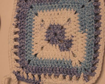 Sail Away Stripes Granny Square Pot Holder