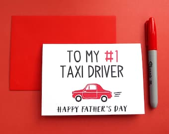 Funny Taxi Driver Father's Day Card