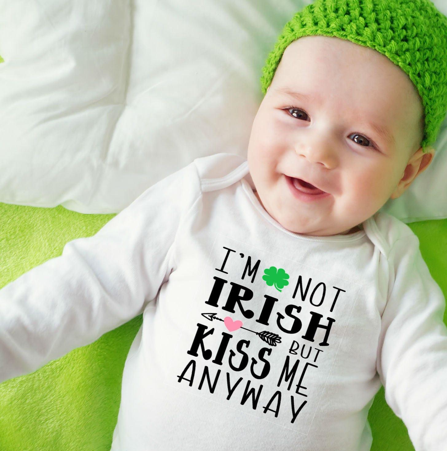 St Patricks Day Baby Irish Baby Wee Bit Irish Irish esie