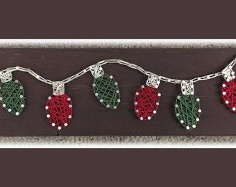 Christmas Lights string art