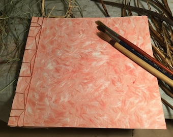 Pink 'Feather' Notebook/Sketchbook