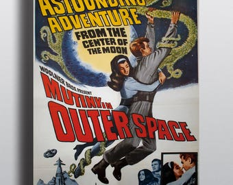 Mutiny in Outerspace - Vintage Classic Movie Poster Sci-Fi Print