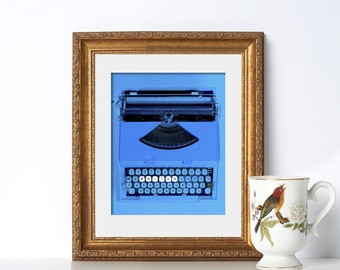 Office Decor Typewriter Digital Download Printable Art Writer Print Writer Gift Home Office Decor Bedroom Art Dorm Art Coral Decor Wall Art