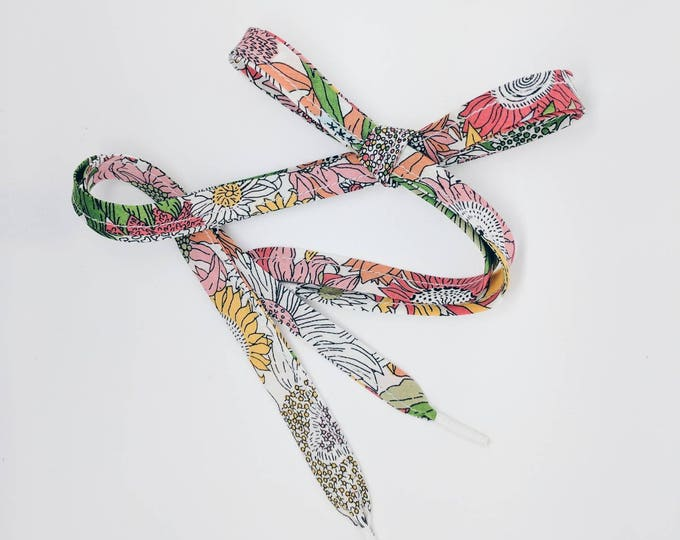 LIBERTY PRINT SHOELACES in adult and children's sizes - Small Susanna G
