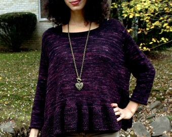 Knitting Pattern- Women's Peplum Pullover